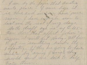 Partial letter from Waring Huston, September 1918