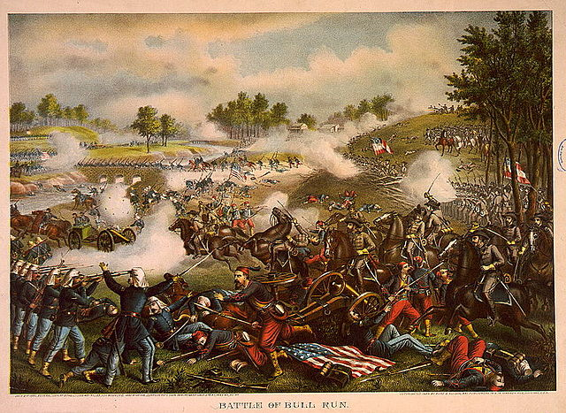 Chromolithograph, First Battle of Bull Run