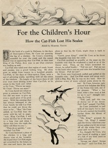 How the Cat-Fish Lost His Scales, by Martha Young