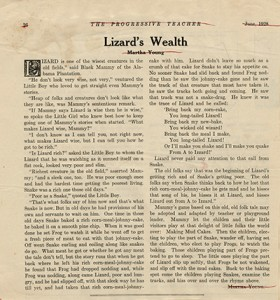 Lizard's Wealth, by Martha Young