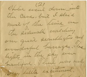 Partial letter from Alston Fitts, September 1918
