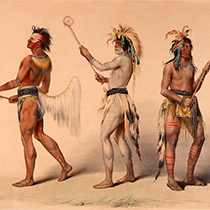 A photo of three indigenous men