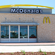 A photo of a McDonald's fast food restaurant