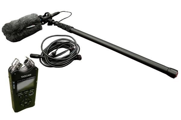 Shotgun Mic Boom Kit with Tascam DR-40 recorder