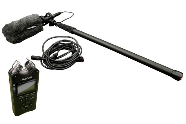 Shotgun Mic Boom Kit with Tascam DR-40 recorder