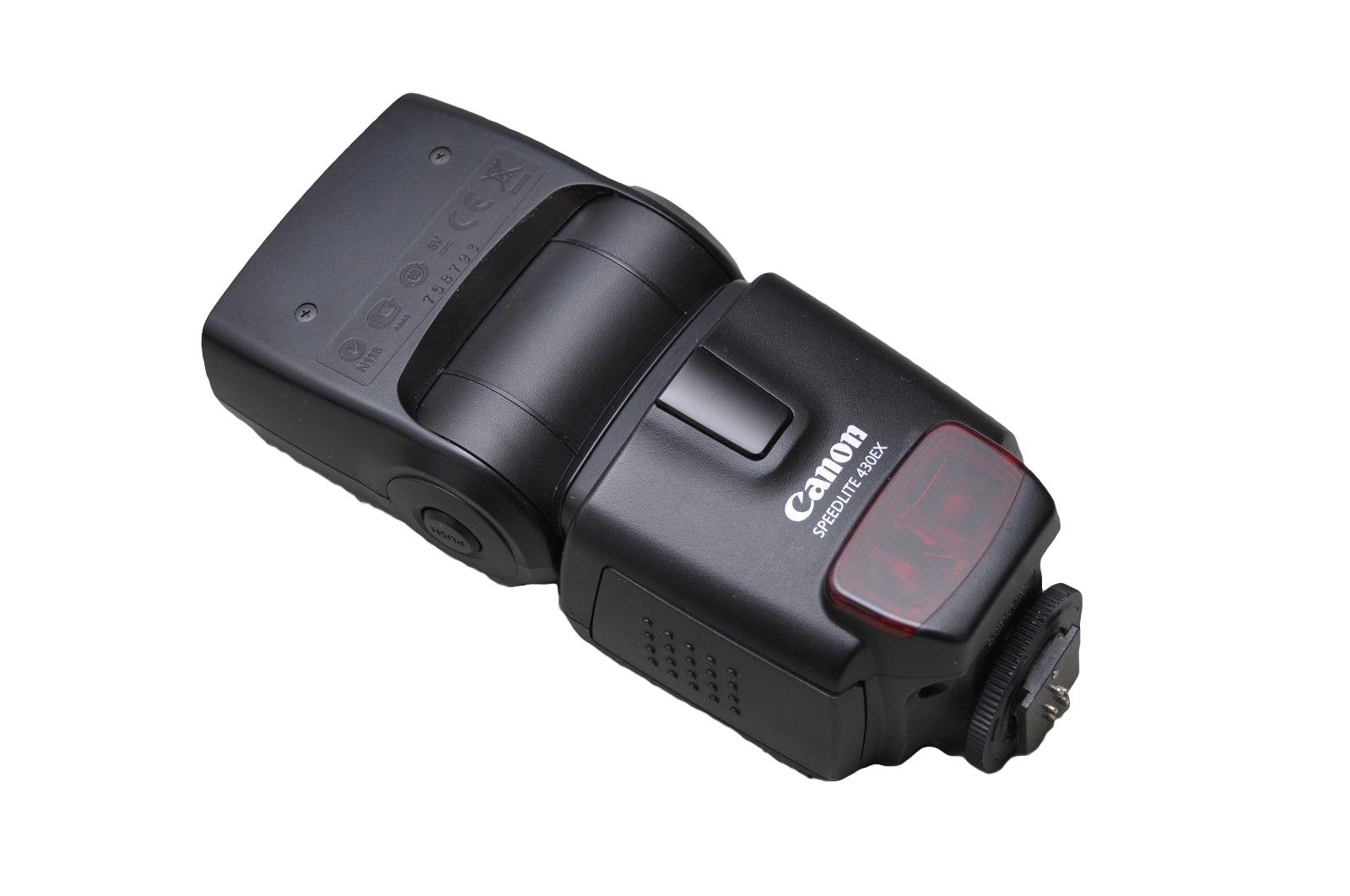On-camera Canon 430EX 2 Speedlite TTL flash