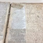 Closeup of page from commonplace book