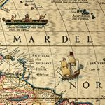 Closeup of portion of Western Hemisphere map, 1622