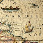 Closeup of portion of Western Hemisphere map, 1622