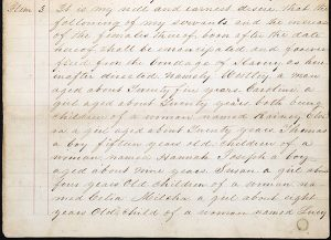 Handwritten will of Samuel Townsend, 1856