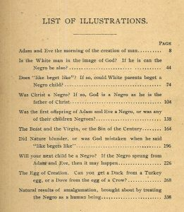 "Partial page from Charles Carroll's ""The Negro a Beast""; or, ""In the Image of God."" St. Louis, Mo.: American Book and Bible House, 1900."