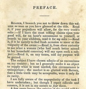 Partial page of preface to Lydia Maria Child's An Appeal in Favor of That Class of Americans Called Africans. New York: J. S. Taylor, 1836.