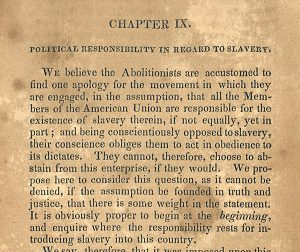 Partial page from Calvin Colton's Abolition a Sedition. Philadelphia: G. W. Donohue, 1839