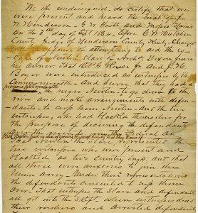 Handwritten deposition
