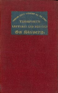 Cover of Thompson's Lectures on Slavery. Boston: I. Knapp, 1836