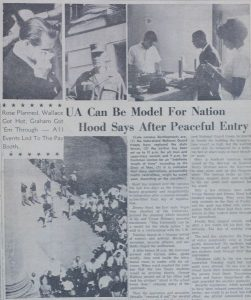 Closeup of the front page of the Crimson White newspaper, June 13 1963