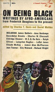 Cover of Davis and Walden's On Being Black, featuring a list of authors and illustrations of important figures
