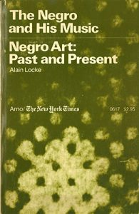 Cover to Locke's The Negro and His Music
