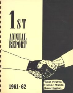 Cover of report from West Virginia Human Rights Commission 1961-1962