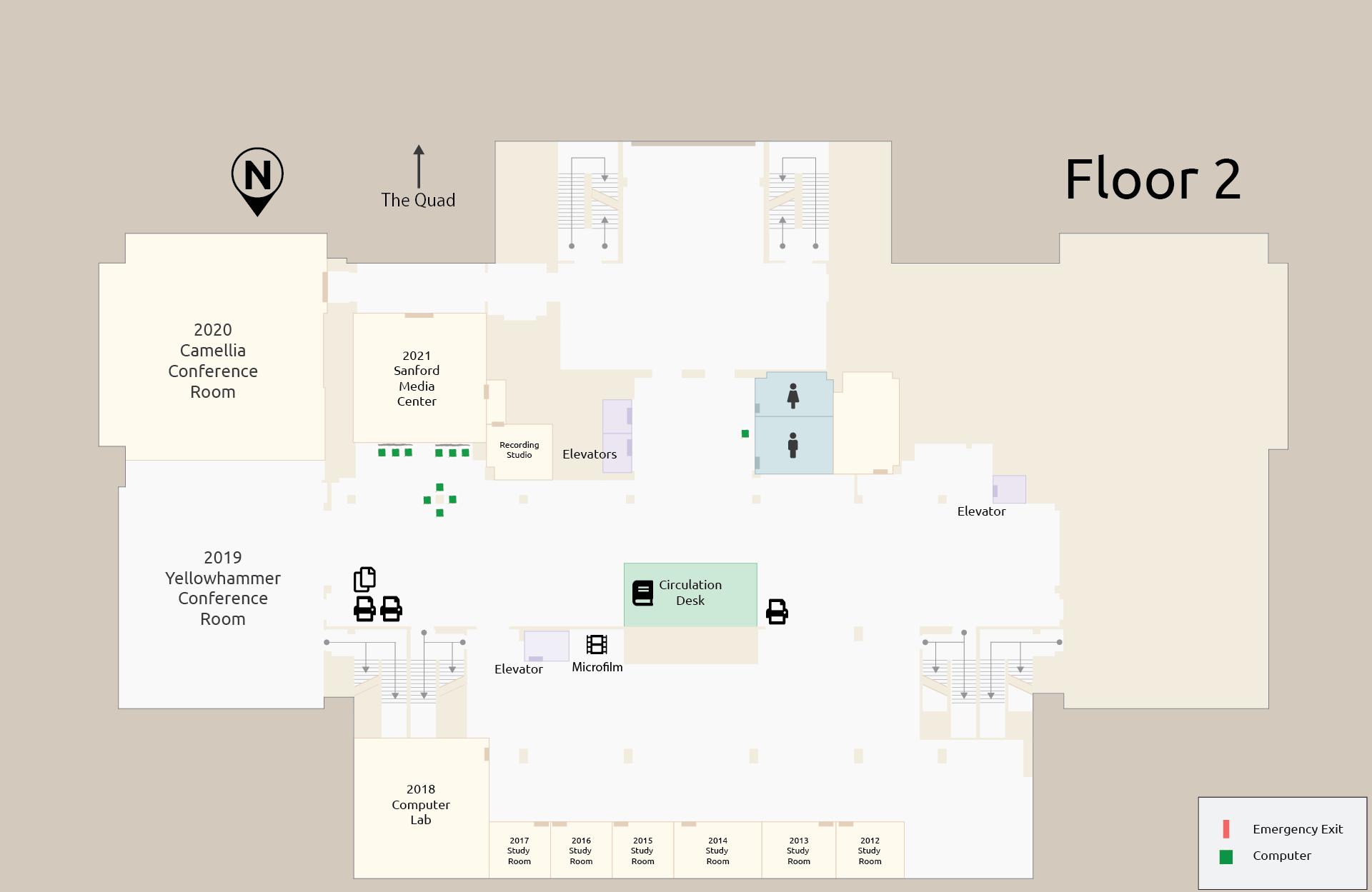 Floor Maps The University Of Alabama Libraries